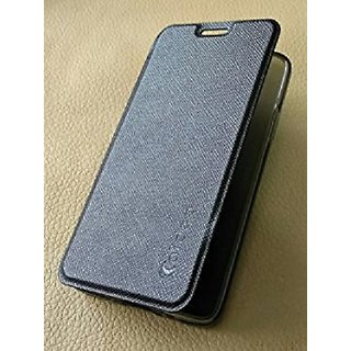 Limited Edition Black Leather Flip Cover for Motorola Moto M