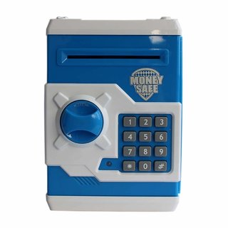 Money Safe Kids Piggy Savings Bank with Electronic Lock (Blue)
