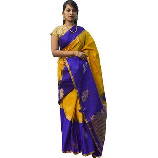 Indians Boutique's Gadwal Silk Saree (Musterd)