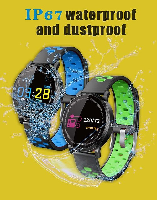 Lenkewi F4 Green Smart Band / Smart Bracelet with Blood Pressure, Heart  Rate Monitoring ,Water proof feature