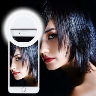 Fleejost Selfie Ring Light 36 LED Flash for Mobile iPhone iPad Samsung Galaxy Android Smart Phones Laptop Camera P