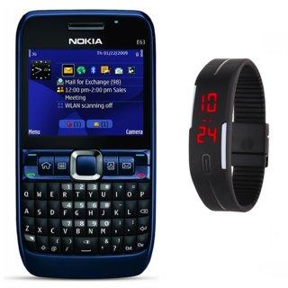Refurbished Nokia E-63 with (6 Months Warranty Bazaar warranty) With Free Digital Watch.
