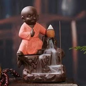 Baby Monks Back Smoke With 10 Incense Sticks