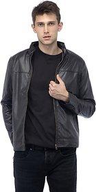 Emblazon Men's Brown Leather Jacket
