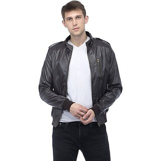 Emblazon Men's Brown Leather Jacket