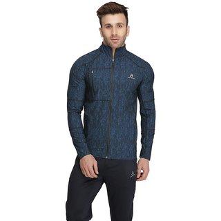 Built Natural 94 Polyester 6 Elastane Long Sleeve Woven Sublimation Print Men Jacket