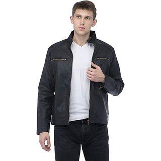 Lambency Men's Grey Leather Jacket