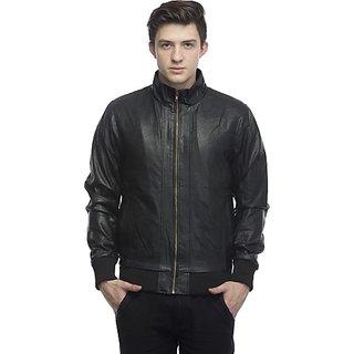 Lambency Men's Black Leather Jacket