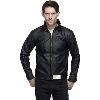 Emblazon Men's Black Leather Jacket