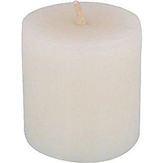Atorakushon Smokeless Scented 3X3 White Tall pillar Candle for Decorate Diwali Party