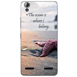 Customizable  Original Designer Cover Thin Fit Plastic Hard Back Case For Lenovo K5 Plus / K5+ (Ocean Quote)