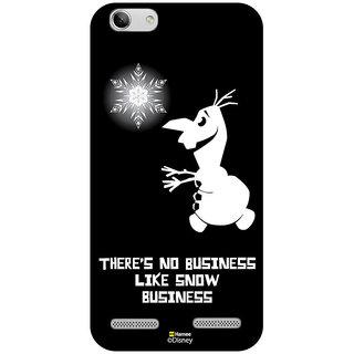 Disney Princess Frozen Official Licensed Hard Case Cover For Lenovo Vibe K5 Plus ( Olaf Snow Business )