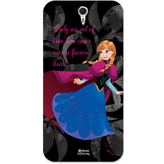 Disney Princess Frozen Official Licensed Hard Case Cover For Lenovo ZUK Z1 (Anna / Black)