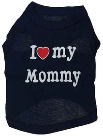 Futaba Puppy  I LOVE MY MOMMY  Vest Shirt - Black - M
