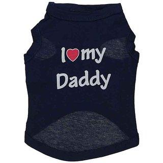 Futaba Puppy  I LOVE MY DADDY  Vest Shirt - Black - S