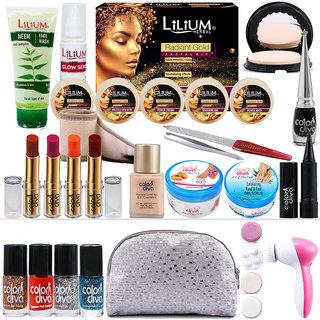 Adbeni 3in1 Jewel Facial Kit  Neem Face Wash Combo Pack of 21 GCI599
