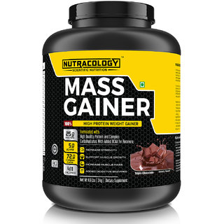 Nutracology mass gainer chcolate flavour 3kg