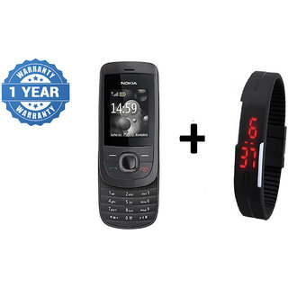 Refurbished Nokia 2220 (6 Month Warranty bazaar Warranty) + Digital watch
