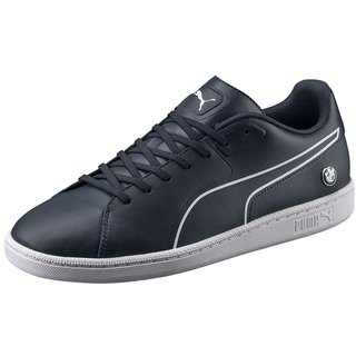 Puma Mens Navy Blue BMW MS Court Sneakers
