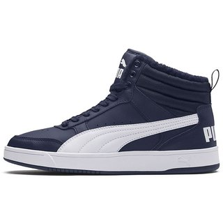 Puma Mens Navy Blue Rebound Street v2 FUR Sneakers