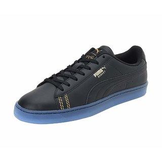 Puma Mens Black Basket Classic one8 Sneakers