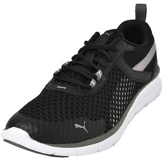 Puma Mens Black Flex Essential Pro Running Shoes