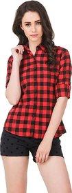 Red Check cotton shirt