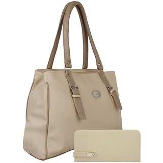 VARSHA FASHION ACCESSORIES WOMEN BAG AND CLUTCH 23 BEIGE