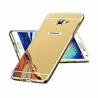 Back Cover for SAMSUNG Galaxy A7 2016 Edition  (Transparent with Golden Border, Flexible Case)