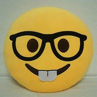 Besim Plush Laughing Emoji Cushion Pillow Soft Toy 35cm (Yellow)