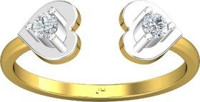 Jewel Hub Certified Diamond Sparkling Ring 0.13 ct / 2.00gm 18k Yellow Gold-JRG3035