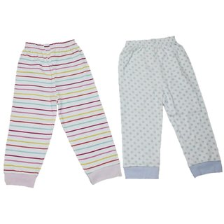 164bf4c419a9 Buy Krivi kids Set Of 2 Multi color Cotton Rib Pant For Baby Boy s ...