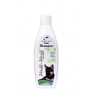 Wuff-Wuff premium quality all purpose Neem Shampoo for Pets/Dogs and Cats 200 ml