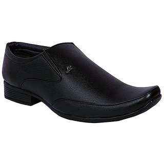 Floxtar Men Black Slip on Formal Shoes