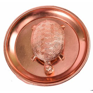 Gifts  Decor Pure Copper Plate With Turtle Use in Fengsui and Vastu