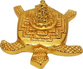 FENGSHUI/VAASTU (FOR GOOD LUCK) BRASS METAL SHREE MERU YANTRA ON TURTLE BACK. HIGHLY AUSPICIOUS AS PER SCRIPTURES
