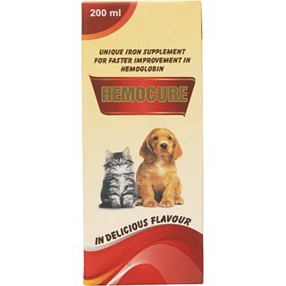Wuff Wuff Hemocure Iron Supplement for Dogs/Cats and Pups/Kitten 200ml