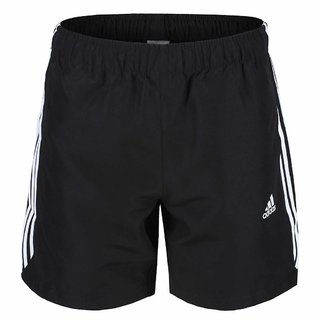 ADIDAS 3 STRIPES SHORTS - BLACK/WHITE