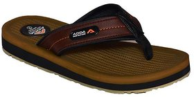 Adda Brown Color Flipflops For Men