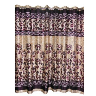 SHIEN Home Story Eyelet Polyester Jacquard Fabric Window/Door Curtain 9ft (Set -2) PURPLE