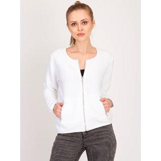 Kotty Women's White Plain Blouson