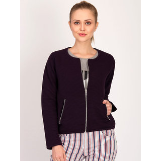 Kotty Women's Purple Plain Blouson