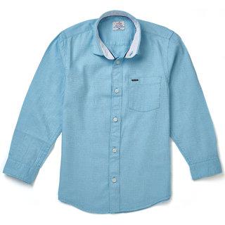 F4B Boys Shirt -  Blue Cotton Shirt