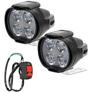 30253308d1a Buy 4 LED FOG LAMP SET OF 2 WITH SWITCH SL FOR MAHINDRA CENTURO Online -  Get 36% Off