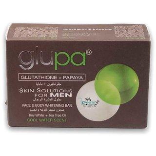 Glupa Skin Solution Plus For Men Face And Body Whitening Bar 135g