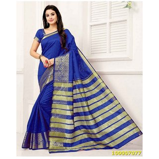 Royal Blue Colour Sarees