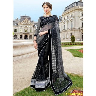 Black Colour Sarees