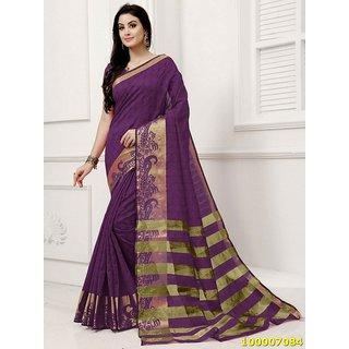 Dark Purple Colour Sarees