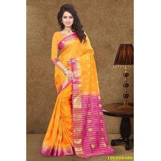 Orange & Pink Colour Sarees