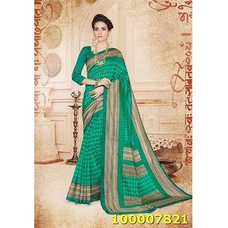 Green Colour Sarees